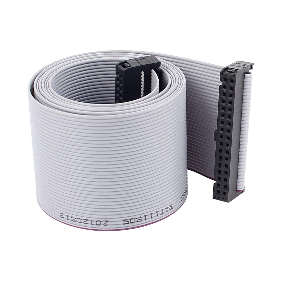 uxcell 2.54mm 34Pin F/F IDC Connector Hard Driver Flat Ribbon Cable 118cm