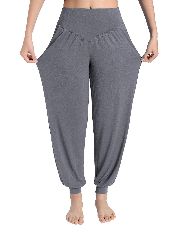 Weintee Women's Rayon Spandex Loose Yoga Harem Pants