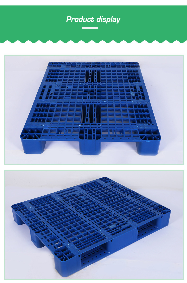 Heavy Duty Single Side Warehouse Storage Stacking Use small  plastic euro pallet