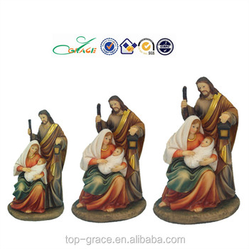 christmas gifts resin catholic religious items holy family
