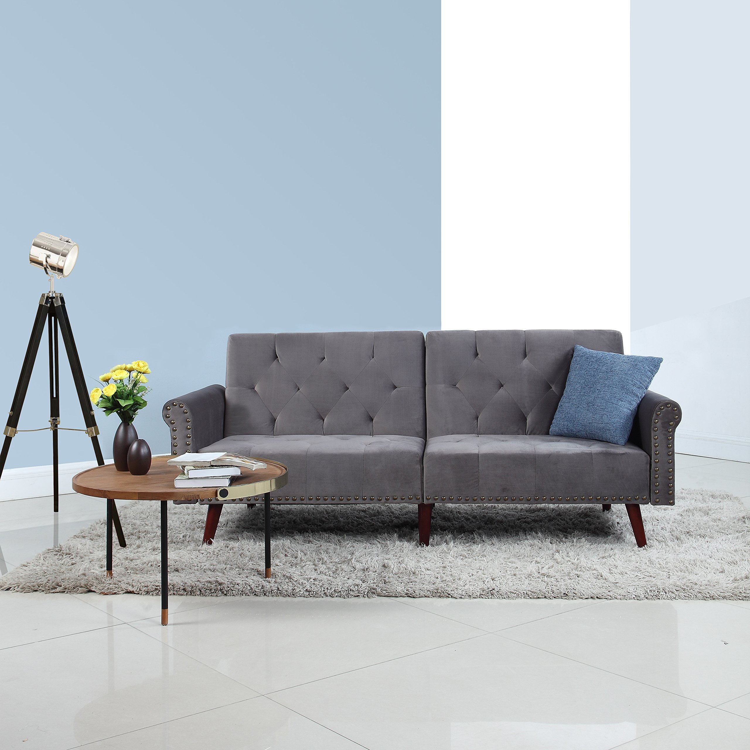 Awe Inspiring Cheap Grey Futon Find Grey Futon Deals On Line At Alibaba Com Squirreltailoven Fun Painted Chair Ideas Images Squirreltailovenorg