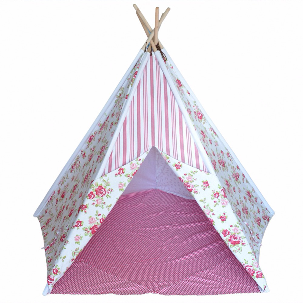 Buy Girls Indoor or Outdoor Tent Cotton Canvas Rose Tipi Tent - Five Poles One Window Teepee with Floor Mat in Cheap Price on m.alibaba.com  sc 1 st  Alibaba & Buy Girls Indoor or Outdoor Tent Cotton Canvas Rose Tipi Tent - Five ...