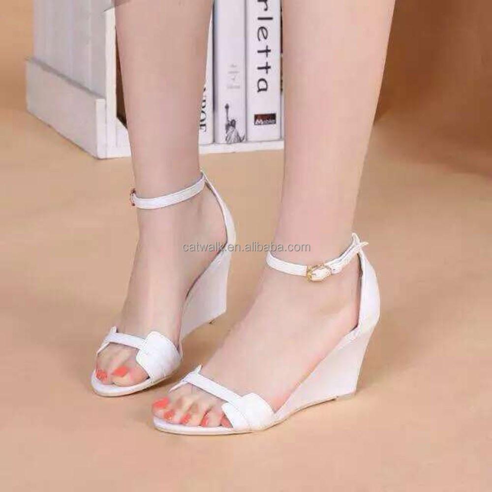 ouest de fantaisie vtements pour dames femmes talon compens sandales femmes sandales de mariage gros blanc - Chaussure Mariage Compense