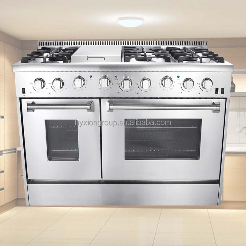"Thor Kitchen home kitchen gas ranges with double ovens 48"" gas electric oven"