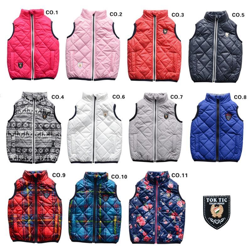 TOK TIK kids spring/autumn unisex warm vest boys vests ...