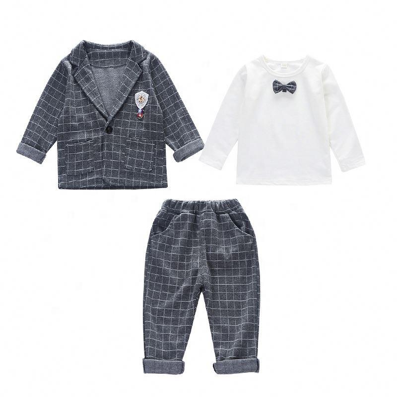 4bab7b94eb3ca 2019 Yüksek Kalite Yeni Stil Ticaret Moda erkek bebek butik giyim setleri  çocuklar için giyim mağazaları