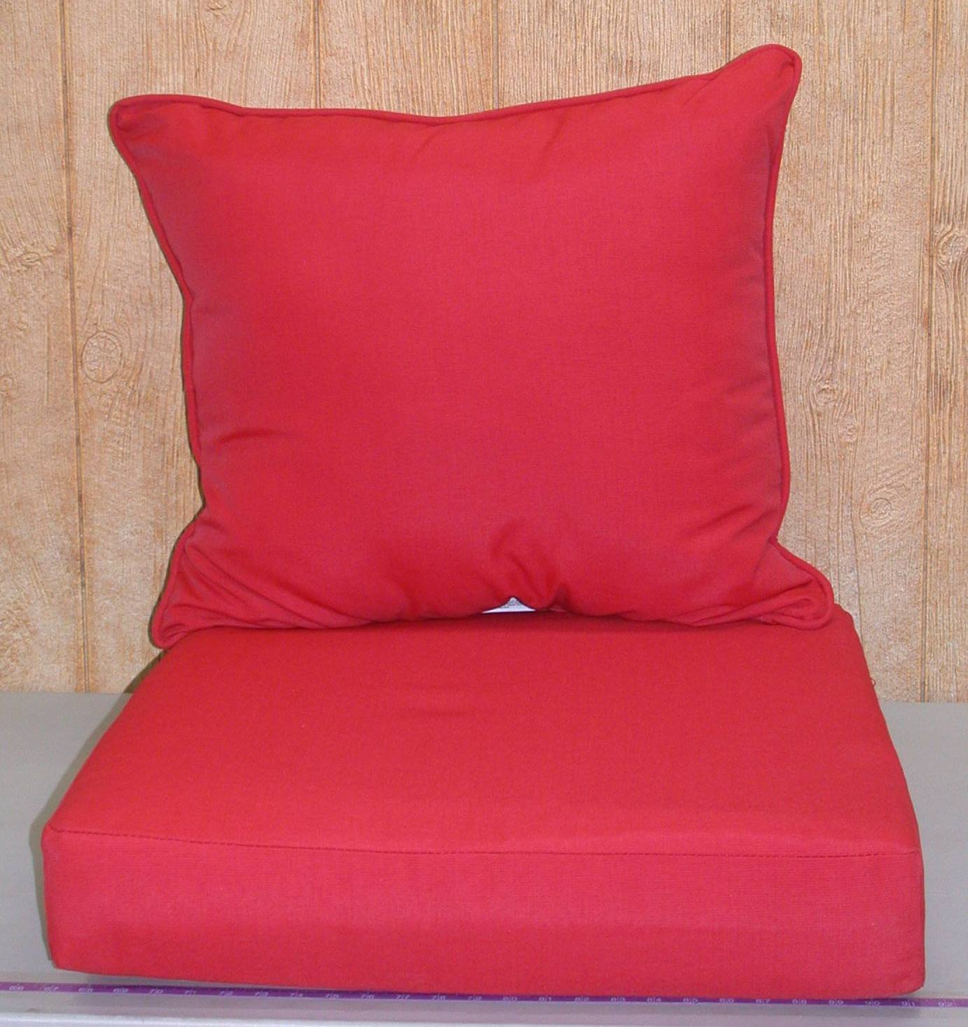 Buffaloe Creek Sales Outdoor Deep Seat Cushion Set ~ Ruby Red ~ 24x23x9/24x24x6NEW