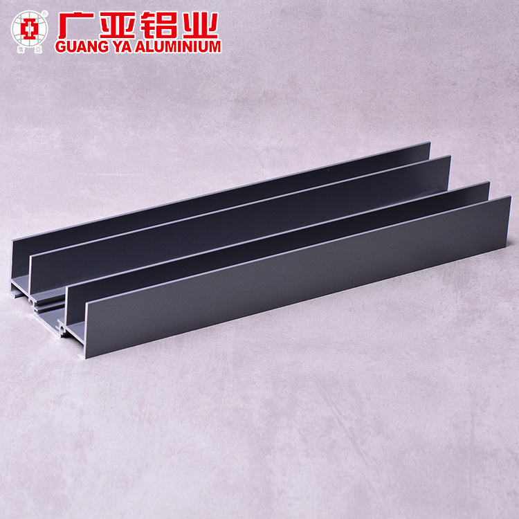 Interior aluminum alloy profiles for sliding glass window and door