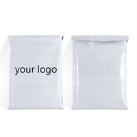 custom logo design tearproof white poly postage courier mailing envelopes plastic package shipping clothes bags