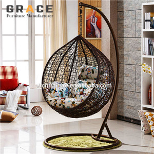 hot sale indoor living room single seat swing chair india jula /swing