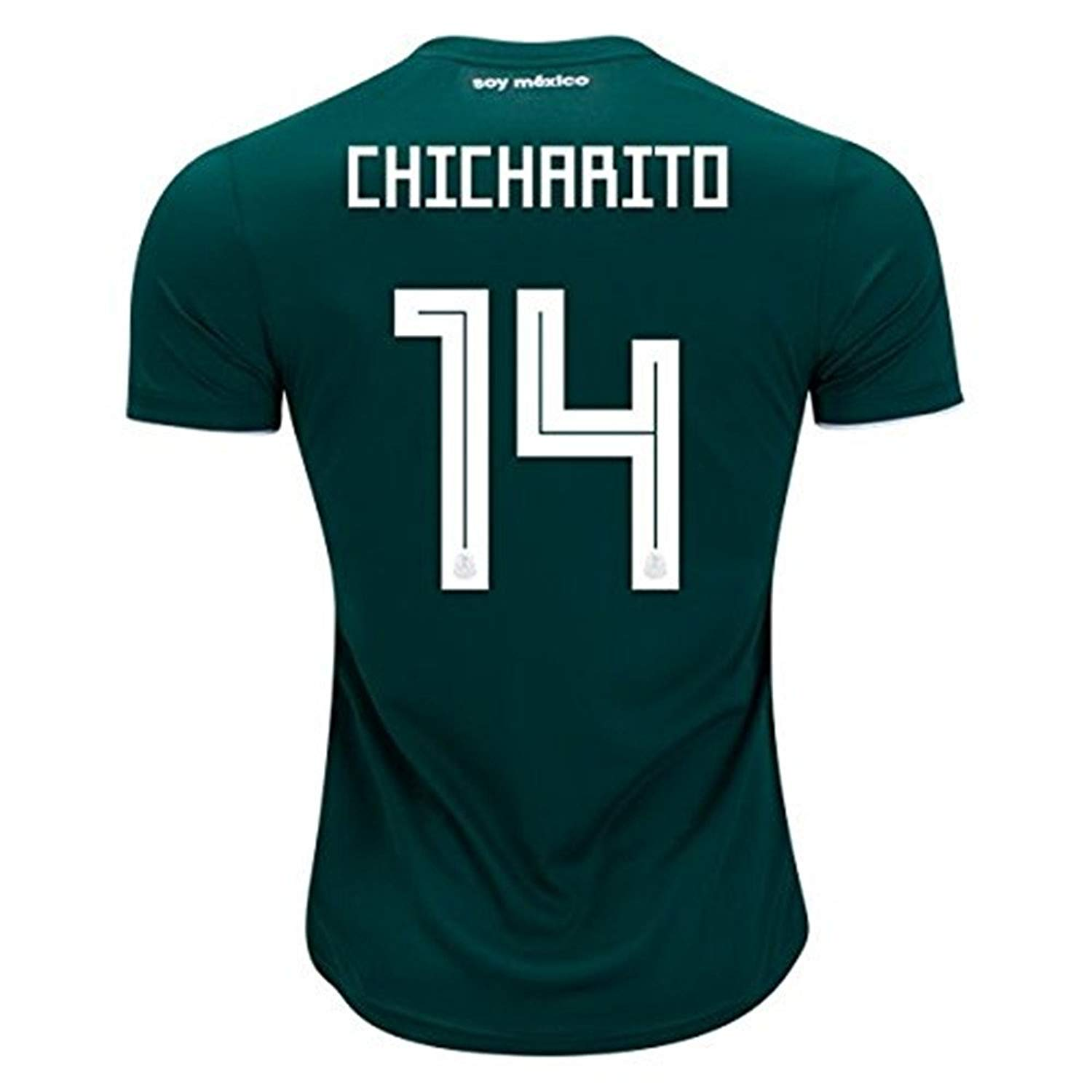 Get Quotations · CHICHARITO  14 Jersey Mexico National Team Home 2018 Soccer  Jersey Mens Green d86211c51a1
