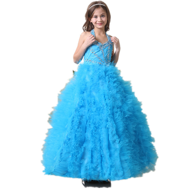 2015-new-style-Good-girl-clothes-halter-sleeveless-blue-neck-hem-decoration-special-girl-children-s