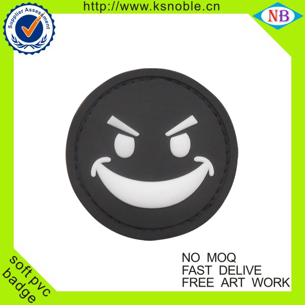 Wholesale cheap smile face pvc badge