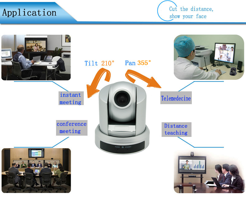 Hoge goede kwaliteit dvi/sdi uitgang 1080p hd ptz video conference camera