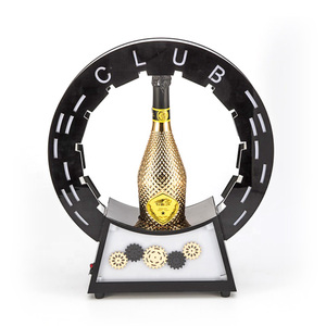 Geer Wheel Bottle Champagne Glorifier Display Racks led bottle glorifier base