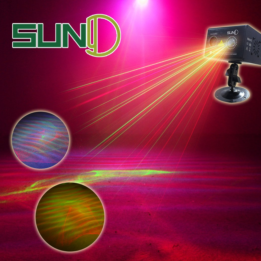 SUNY Party Lights Hardwired Sound Activated Laser Lights RG Aurora Laser Light Show Galaxy Projector LED Ripple Wave Projector Indoor DJ Party Lights Xmas Disco Holiday Event Decor Laser Light Show