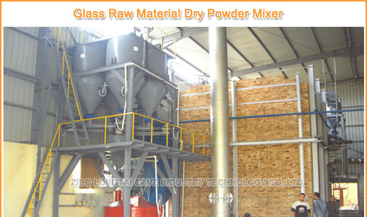 Glass Raw Material Dry Powder Mixer Machine