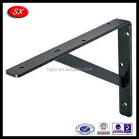 Black Steel Shelf Bracket