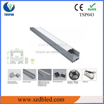 Tospon Wall Mount Aluminum Profile For Architectural Lighting ...