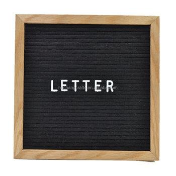 Customed letter board felt backing with slots to insert for Wholesale felt letter board