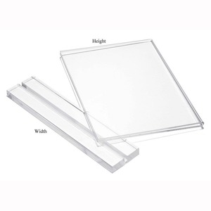 Custom Hot Sale Exquisite Photo Frame Holder Insert T Shape A5 Sign Stand Clear 5x7 Acrylic Sign Holder for Restaurant