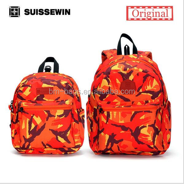 7848258e59 Suissewin Parent-child Backpack Set Fashion Family Set Backpack Colorful  Anti-lost Baby Backpack