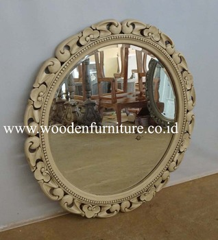 Antique Mirror Classic Solid Mahogany Frame Wooden Acessories