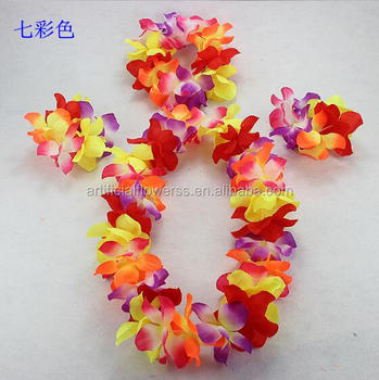 Silk flower lei hawaii flower necklace lei for party decoration silk flower lei hawaii flower necklace lei for party decoration mightylinksfo