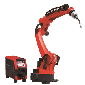 6 axis 1450 mm arm length Mig welding robot with welding torch and welding power source