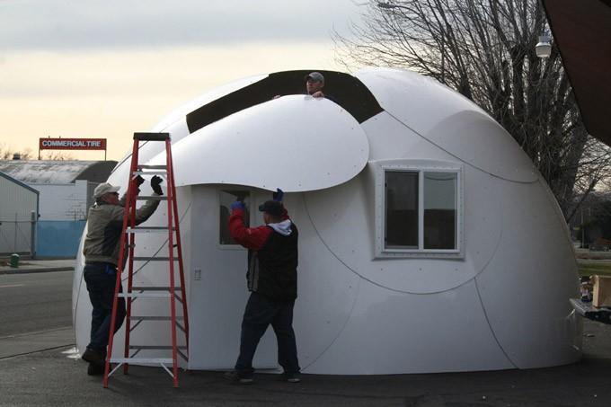 Car Fiberglass Dome Shelter : Prefab dome house made by fiberglass composite buy