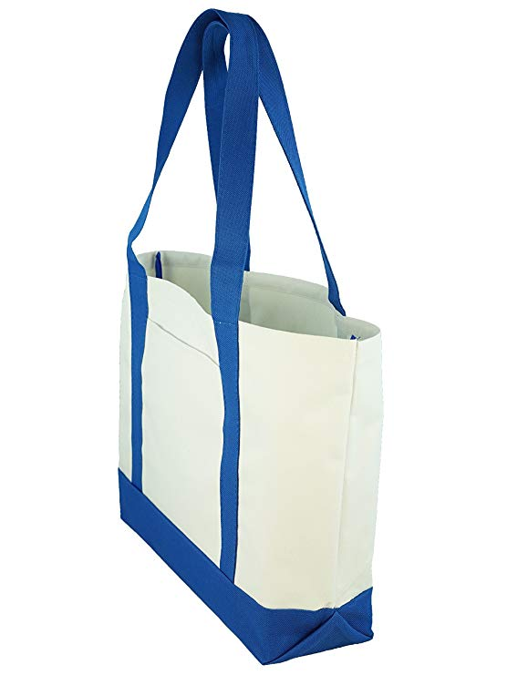 Full color custom printed canvas tote bags for promotion