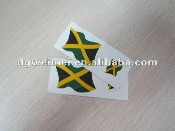 Henna Tattoo Jamaica : Jamaica flag temporary tattoo buy custom