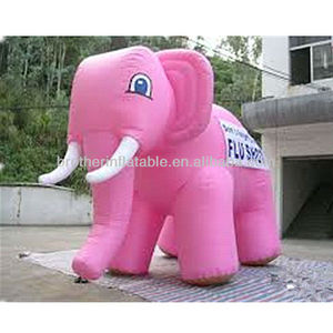 OEM giant inflatable pink elephant for sell