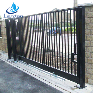 High quality wrought iron sliding gate design factory, beautiful sliding gate designs for homes