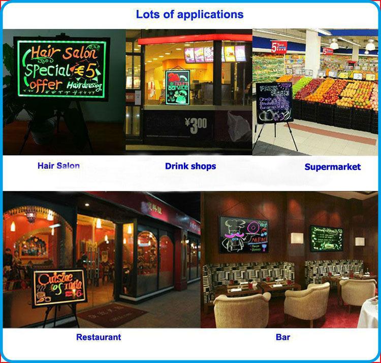 Most Popular Restaurant Illuminated Menu Board Acrylic 90 Flashing ...