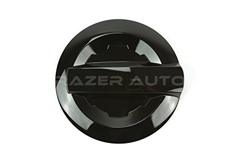 Razer Auto 14-15 Chevy Chevrolet Silverado 1500, 2015-On Chevy Chevrolet Silverado 2500/3500, Gloss Black Gas Door Cover For Short Bed Truck Only