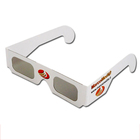 Custom Logo Cinema Anaglyph Polarized Linear Polarizer 3D Glasses