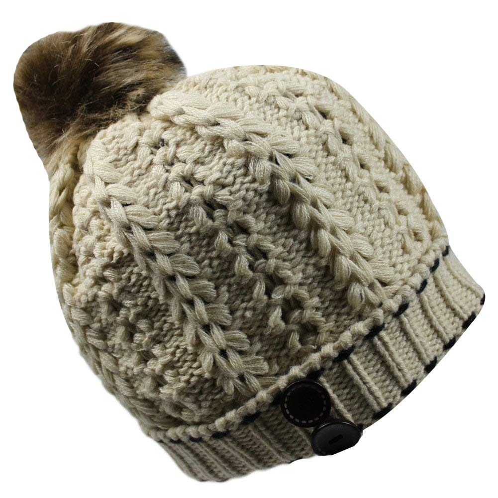 Get Quotations · Women s Winter Warm Thick Chunky Slouchy Crochet Ski  Skully Knit Beanie Cap Hat e7624e6f1d9