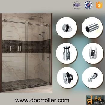 Frameless Bathroom Glass Sliding Shower Door Roller Fitting Set