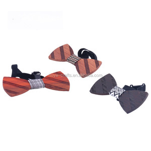Customized Solid Wood Bow Tie Novelty Accessory Wood Necktie for Wedding