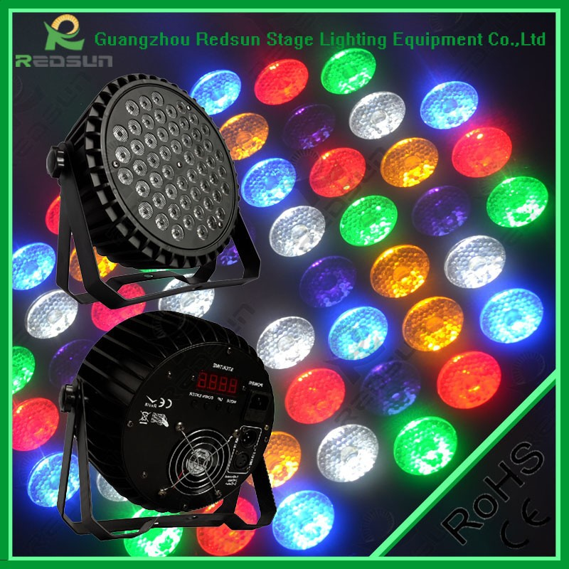Professional show lighting hot selling dj lights disco par led rgbw 54pcs