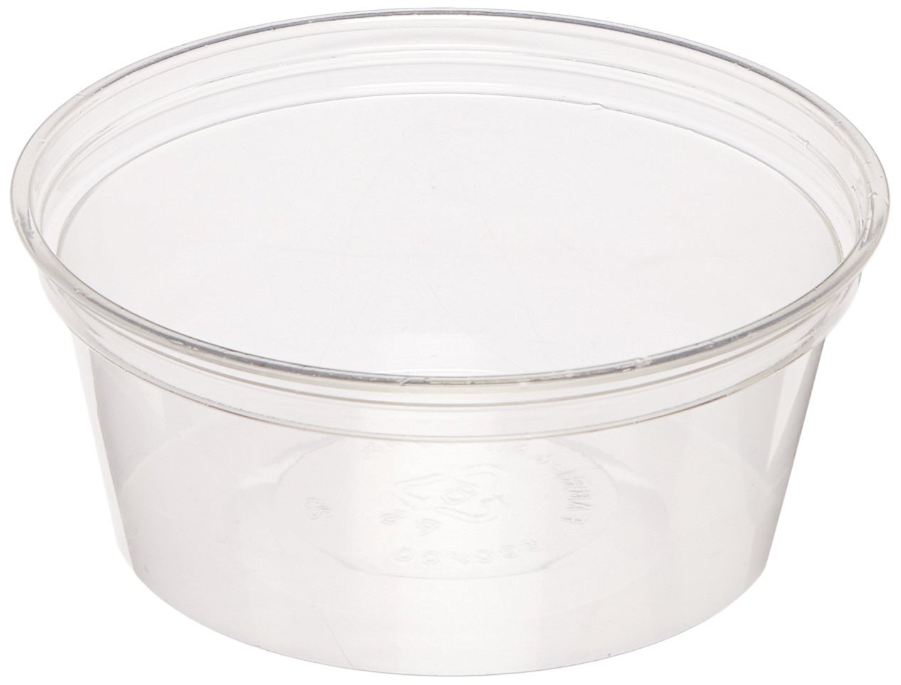 Fabri-Kal FK5CC 5-Ounce Capacity 3.8-Inch Top Width by 2.9-Inch Bottom Width by 1.6-Inch Height Clear Polystyrene Food Container 100-Pack (Case of 10)