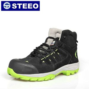 Breathable light weight steel toe work safety boots wholesale