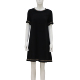 Embroidery Fabric Womens Black Smart Casual Dress For Girl Kids