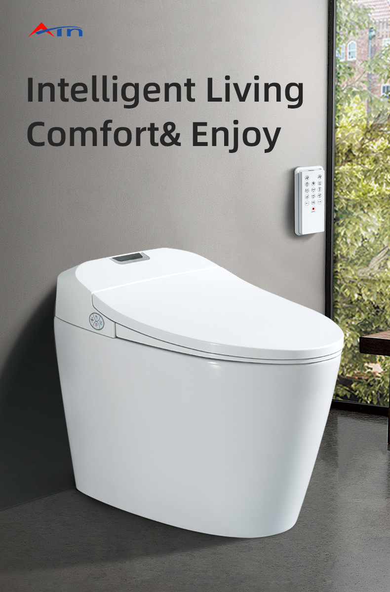 American standard luxury one piece wc automatic toliet flush soft close smart intelligent toilet