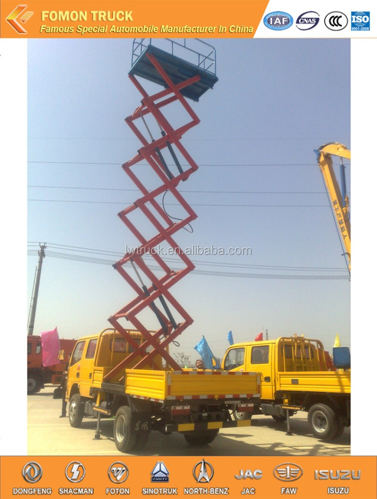good quality Dongfeng 4x2 10m high altitude operation aerial work platform truck/truck mounted aerial work platform
