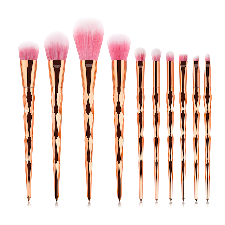 Professionale di Bellezza Oro Rosa spazzole di Trucco capelli Sintetici Powder Foundation Blush Brush
