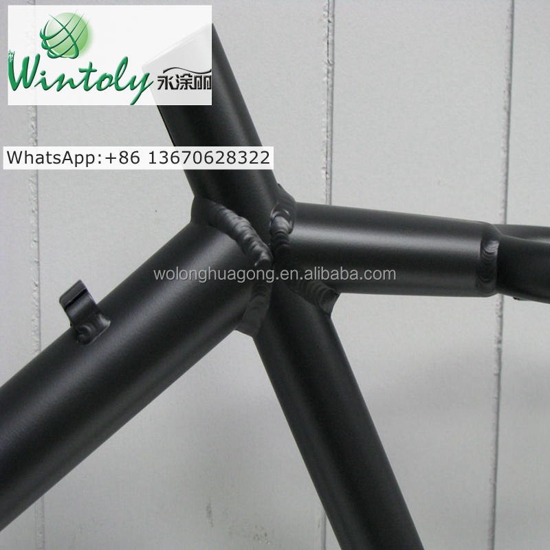 Metal bike frame black powder coating enviroment friendly <strong>paint</strong>
