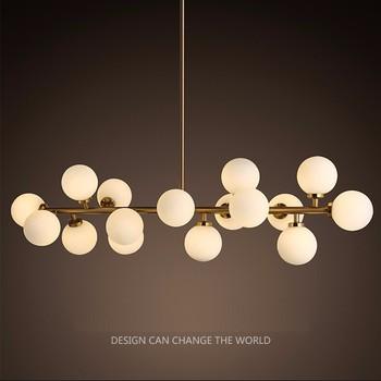 Modern Led Chandelier Light Ing Bubble Restaurant Hanging Lamp Pendant Suspension Drop Lighting Md85076 L16