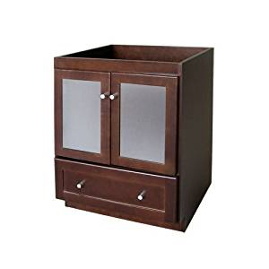 Get Quotations · RONBOW Shaker 30 Inch Bathroom Vanity Base Cabinet With Soft  Close Frosted Glass Door, Cabinet